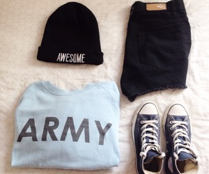 army, fashion, and style image