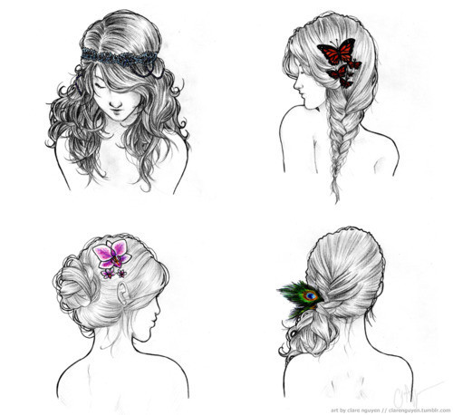 braid, orchid, and butterfly image