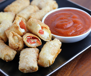 cheese, sauce, and food image