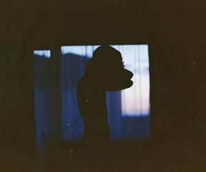 boy, dark, and window image