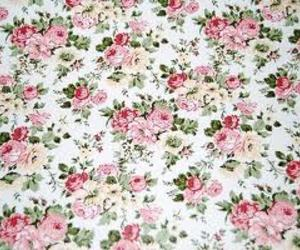 roses, shabby chic, and wallpaper image