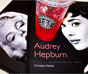 starbucks, audrey hepburn, and Marilyn Monroe image