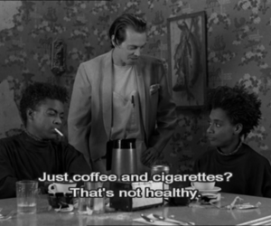 coffee and cigarettes, subtitles, and Steve Buscemi image