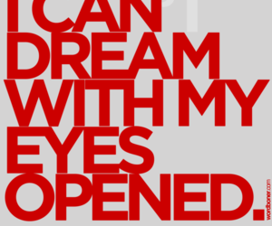 Dream, eyes, and text image