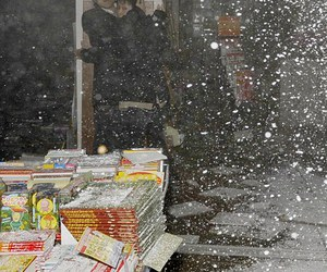 bookstore, collapse, and earthquake image
