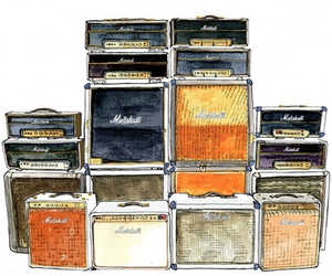 amp, amplifier, and marshall image