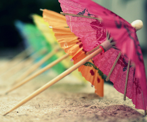 umbrella, colorful, and beach image