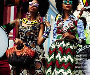 fashion, African, and Afro image