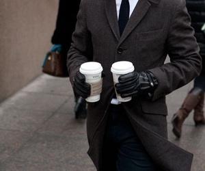 coffee, fashion, and man image