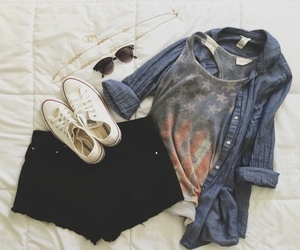 clothes, sneakers, and converse image