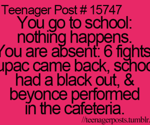 school, funny, and teenager post image