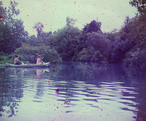 canoe, day, and pond image