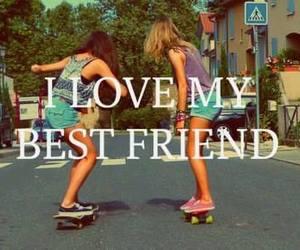 best friend, summer, and blonde image