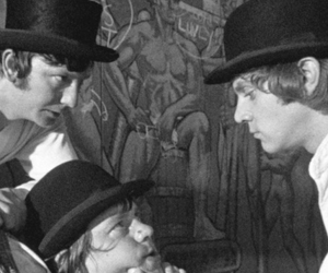 black and white, Malcolm McDowell, and mechanic orange image