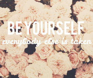 yourself, flowers, and love image