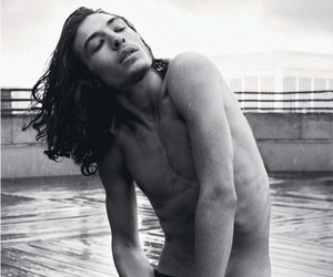 ezra miller, black and white, and Hot image