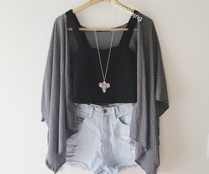 cardigan, high waisted, and hipster image