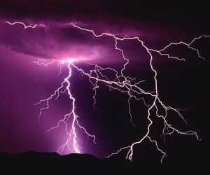 lightning, thunder, and nature image