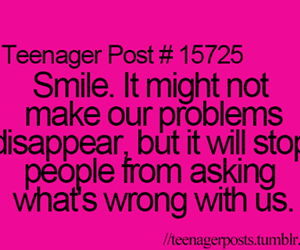 problems, quotes, and smile image