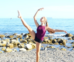 ballet, beach, and dance image