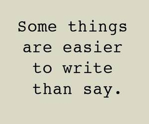 quote, write, and say image