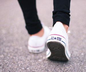 converse, shoes, and white image