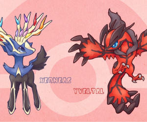 pokemon, xerneas, and yveltal image