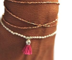 bracelet, pink, and summer image