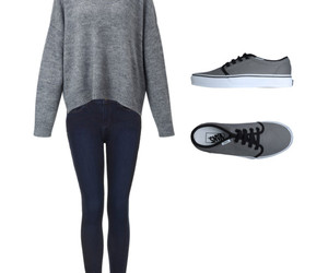 girl, jeans, and vans image