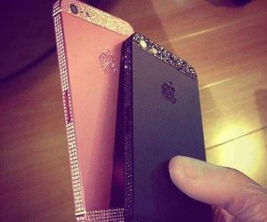 black, pink, and iphone5 image