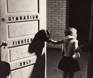 boxing and child image