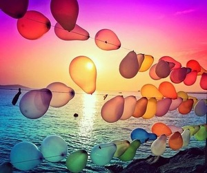 balloons, sea, and summer image