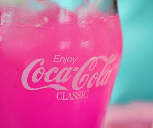 drink, pink, and coco cola image