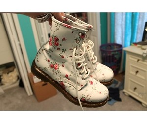 cute, boots, and floral image