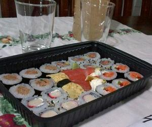 dinner, sushi, and yummy image