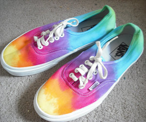 colorful, rainbow, and sneaker image