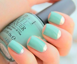 blue, beautyful, and nails image