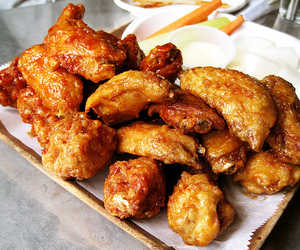 food, wings, and delicious image