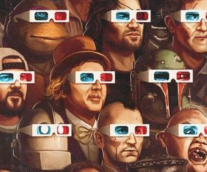3d glasses, cinema, and movies image