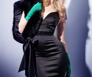 black, satin, and style image