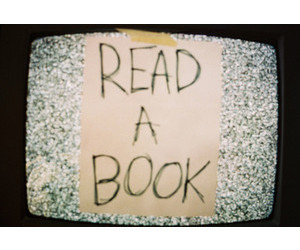 tv, book, and read image
