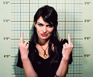 actress, lena headey, and middle finger image