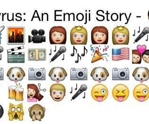 miley cyrus, miley, and emoji image