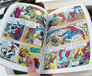 comic, spiderman, and book image