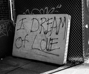 love, Dream, and black and white image