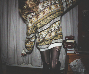 girl, sweater, and hipster image