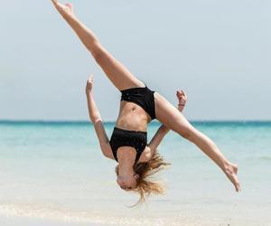 beach, gymnastics, and dance image