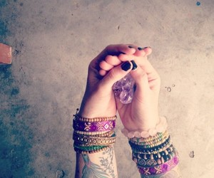 tattoos hippie crystal image