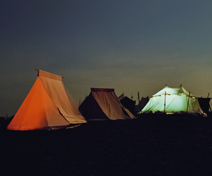 tent, camping, and night image
