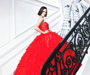 dior, dress, and red image